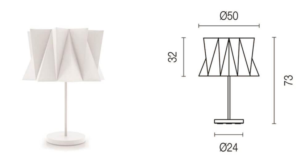 Лампа настольная Andromeda от итальянской фабрики Calligaris с тканевым абажуром итальянская мебель в Одессе