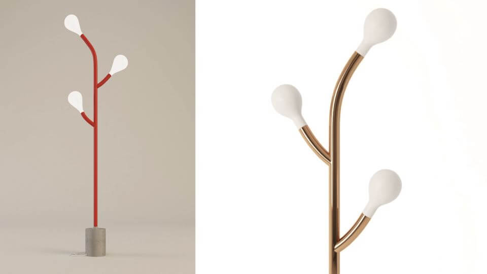 Лампа напольная/торшер Pom Pom от итальянской фабрики Calligaris с 3-мя лампочками итальянская мебель в Одессе