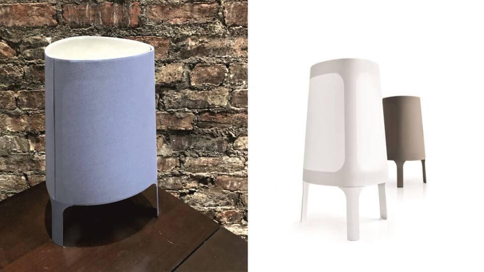 Лампа настольная Allure от итальянской фабрики Calligaris с тканевым абажуром итальянская мебель в Одессе