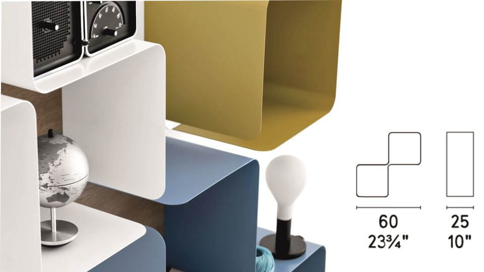 Полка Fractal от итальянской фабрики Calligaris итальянская мебель в Одессе