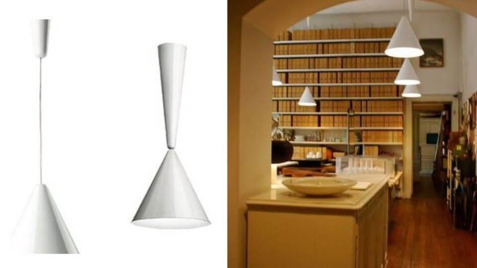 Светильник подвесной Diabolo от итальянской фабрики Flos в белом цвете итальянская мебель в Одессе
