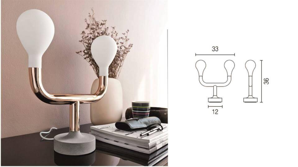 Лампа настольная Pom Pom от итальянской фабрики Calligaris с двумя лампочками итальянская мебель в Одессе