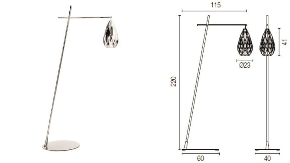 Торшер/ напольная лампа Hydra от итальянской фабрики Calligaris итальянская мебель в Одессе