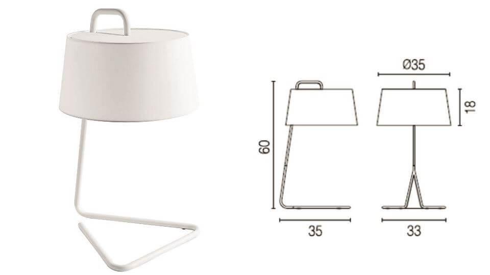 Лампа настольная Sextans от итальянской фабрики Calligaris с тканевым абажуром итальянская мебель в Одессе