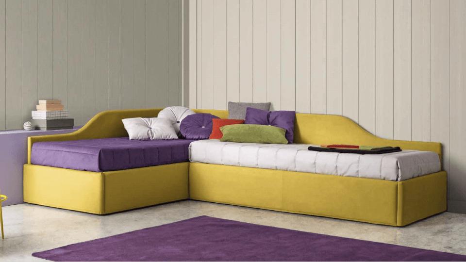 Кровать Erik от итальянской фабрики Felis в мягкой тканевой обивке с коробом для хранения вещей, размер спального места ш 80 см *д 190 см, габариты: д 204 см х ш 93 см х в 77 см итальянская мебель в Одессе