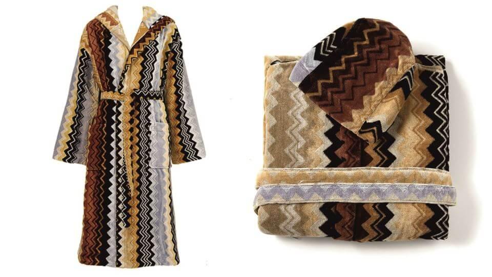 Халат Giacomo от итальянской фабрики Missoni Home из 100% хлопка, в наличии в 2-х размерах: S, XL итальянская мебель в Одессе