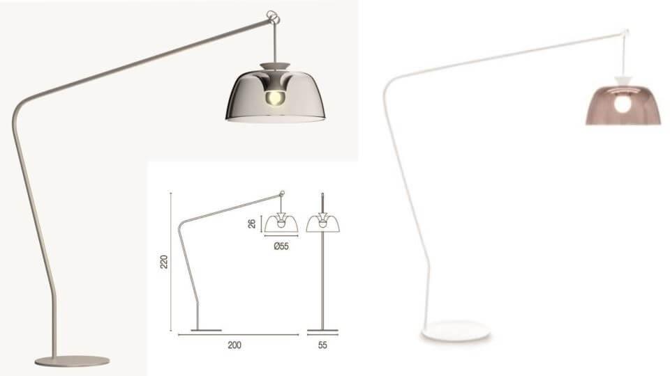 Торшер/напольная лампа Arpege от итальянской фабрики Calligaris итальянская мебель в Одессе