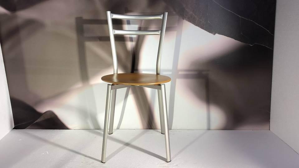 Стул обеденный X-PRESS от итальянской фабрики Connubia с деревянным сиденьем и металлическим каркасом итальянская мебель в Одессе
